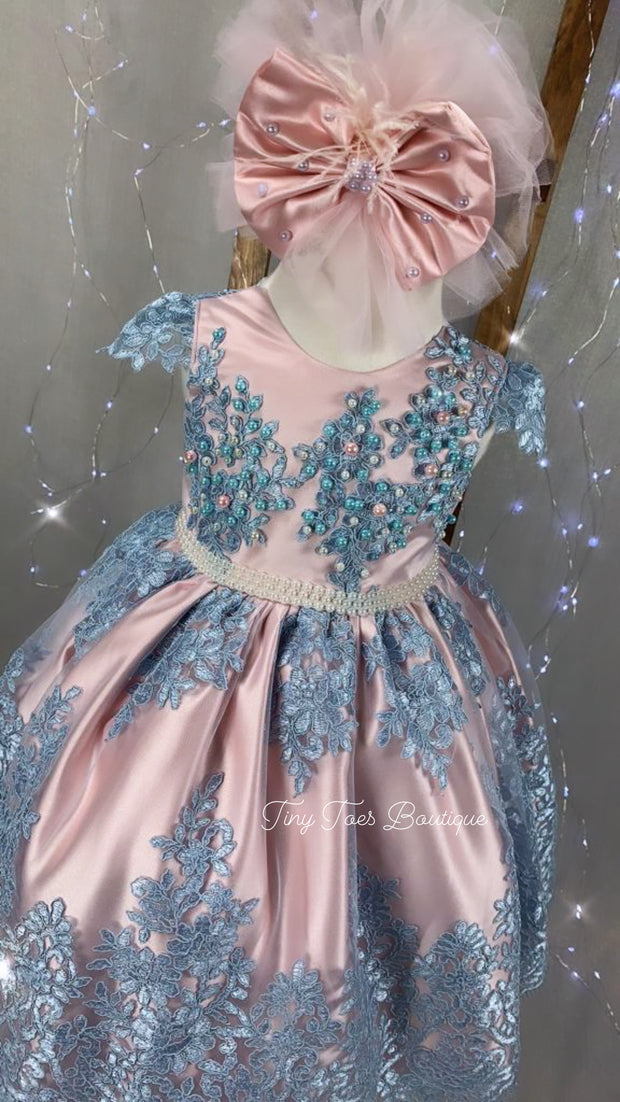 Allison Dress (Pink and Blue)