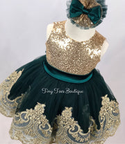 Sparkle Dress (Green)