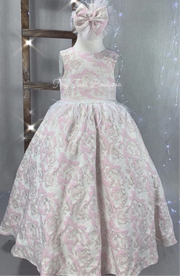 Mia Gown ( Pink & White )