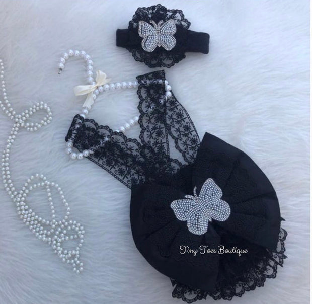 Victoria Newborn Set (Black)
