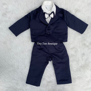 Boys Blue and white birthday suit