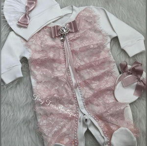 Nicole Newborn Set light pink