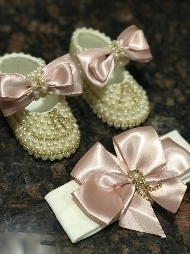 Pink Bling Shoe Set