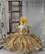 Amelia Dress ( Yellow & Gold )