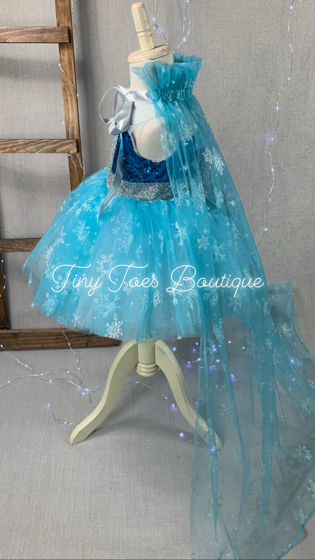 Princess Elsa Inspired Dress