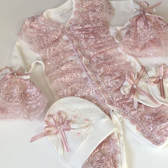 Alexia Newborn Set light pink