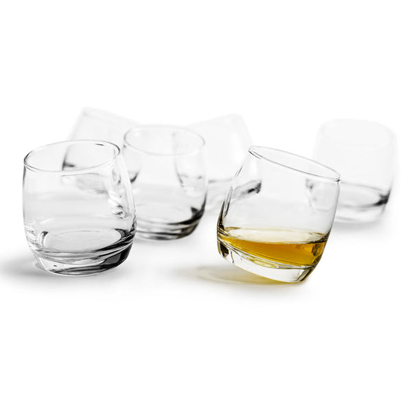 Sagaform Round Bottom Whiskey Glasses Set of 6