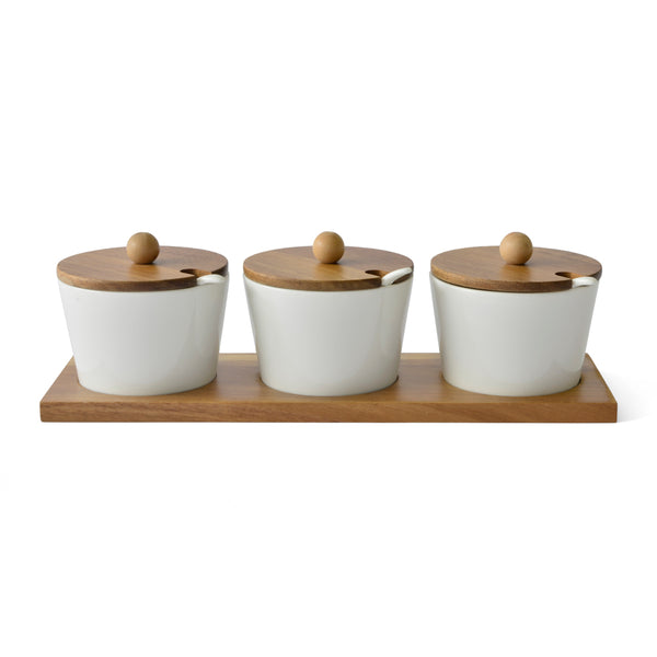 Eetrite Condiment Bowls on Tray