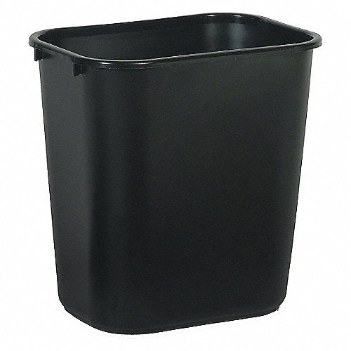 Bote De Basura Rubbermaid Mediano Color Negro Rectangular