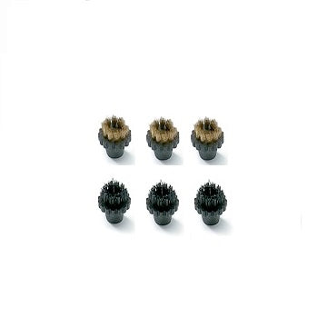 3 Brass & 3 Plastic Bristle Detail Brushes