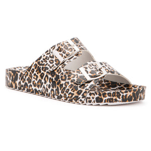 Girls Leopard Slip Slipper