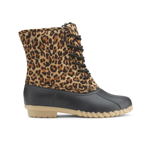 Women's Cats Cradle Leopard Duck Boots