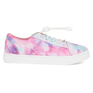 Girls Pink Colorburst Sneaker