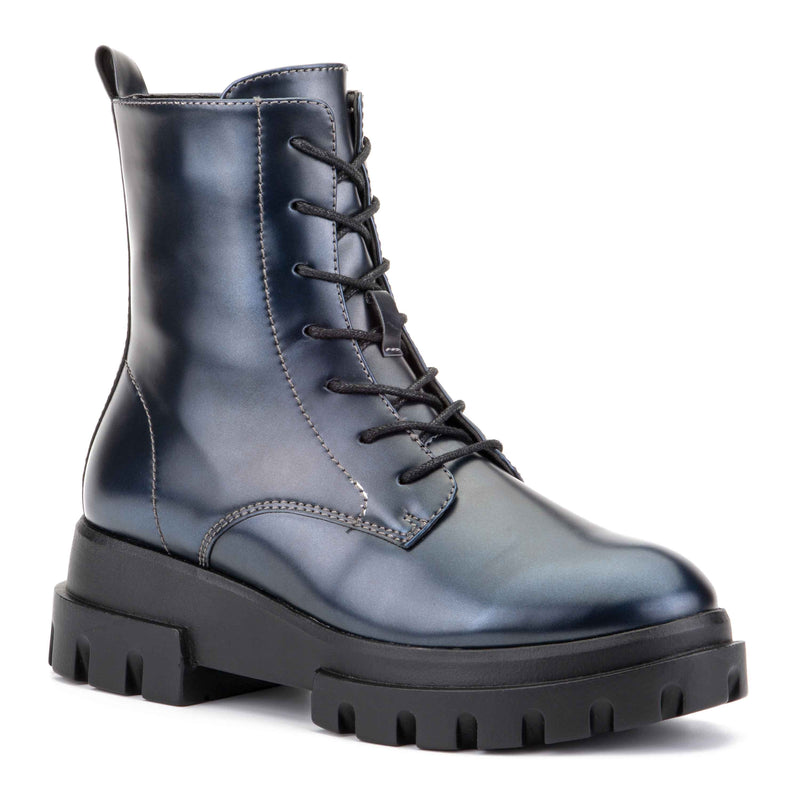 Women's Exhale High Shine Combat Boots