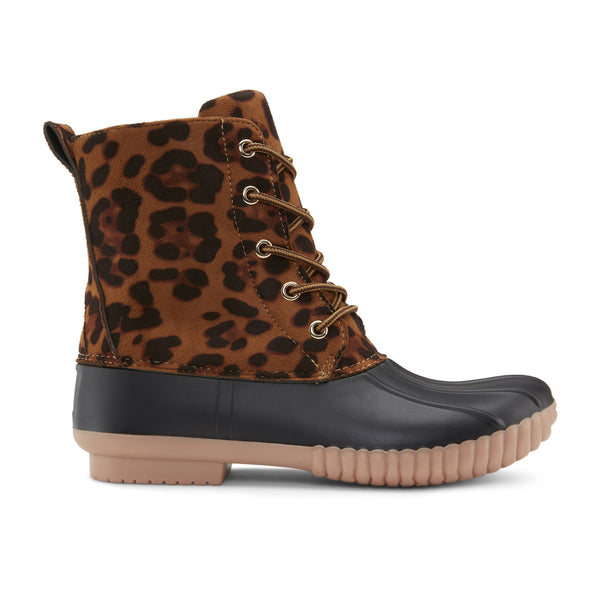 Women's Here And Now Leopard Duck Boots