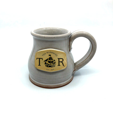 "Tea Runners ""Frosty Flake"" Stoneware Mug"