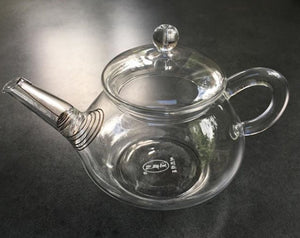 Glass Teapot with Removable Spring Filter
