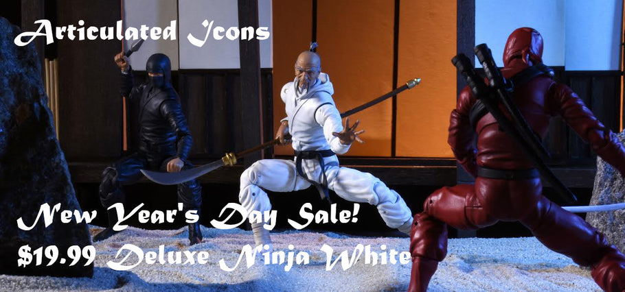 New Year's Day Sale! Deluxe White Ninja $19.99!