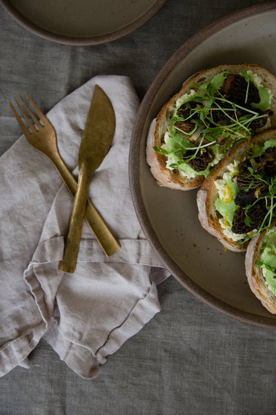 Morel & Pea Tartine
