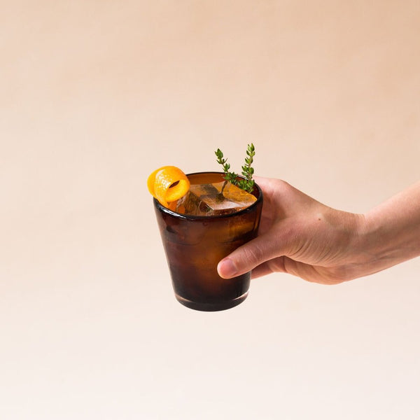 Orange & Thyme Whiskey Drink