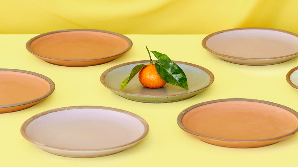 Plates and Citrus by East Fork Pottery