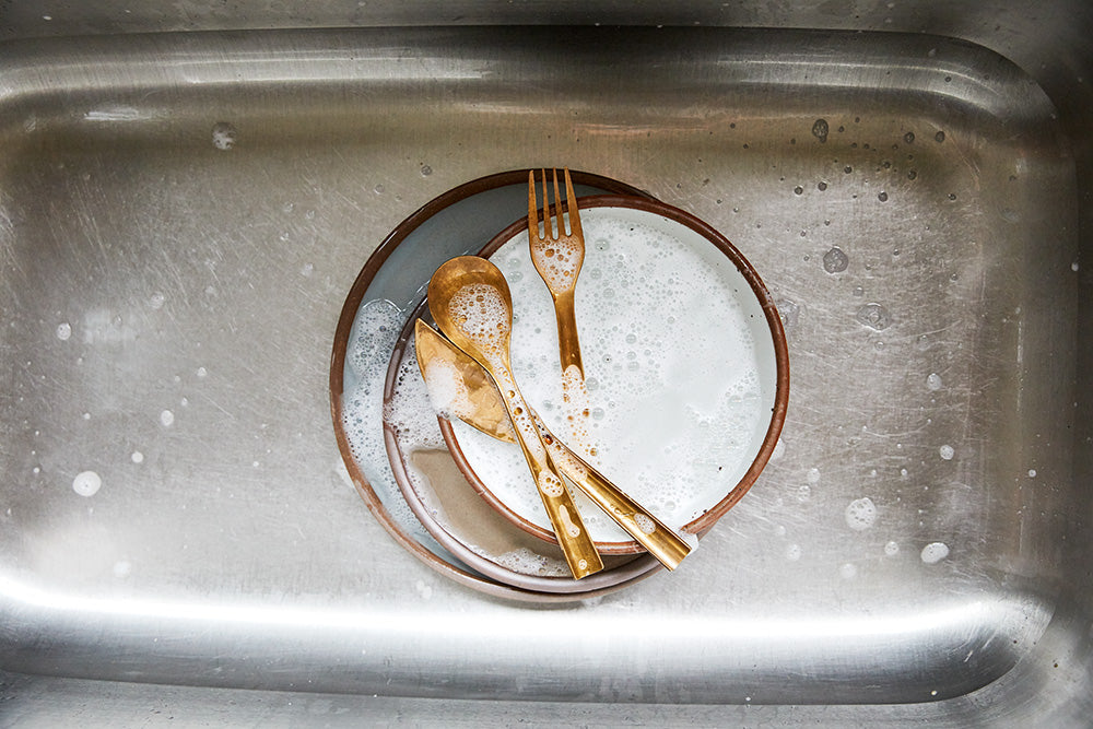 East Fork plates in the sink.