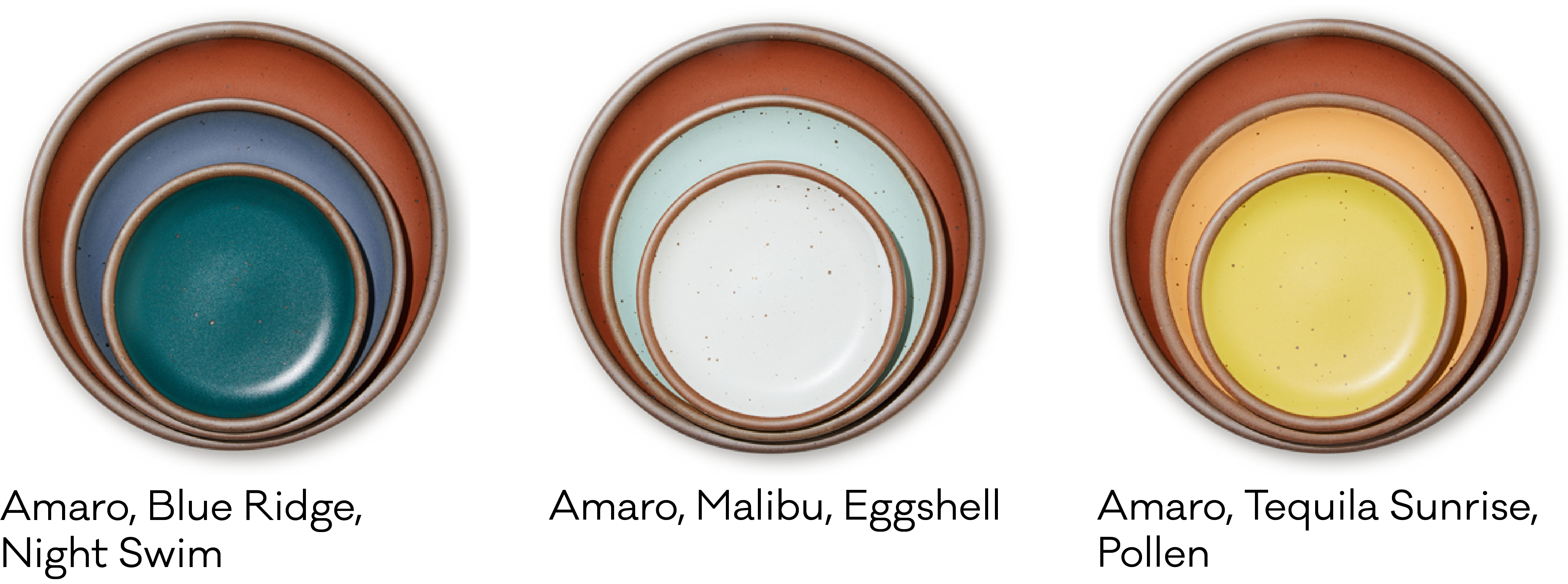 Amaro with other glazes