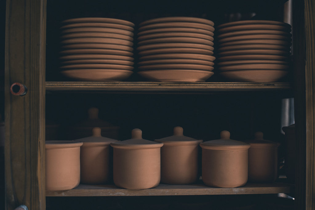 Bisqueware on the shelves at East Fork