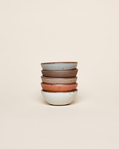 A neat stack of Bitty Bowls by East Fork.