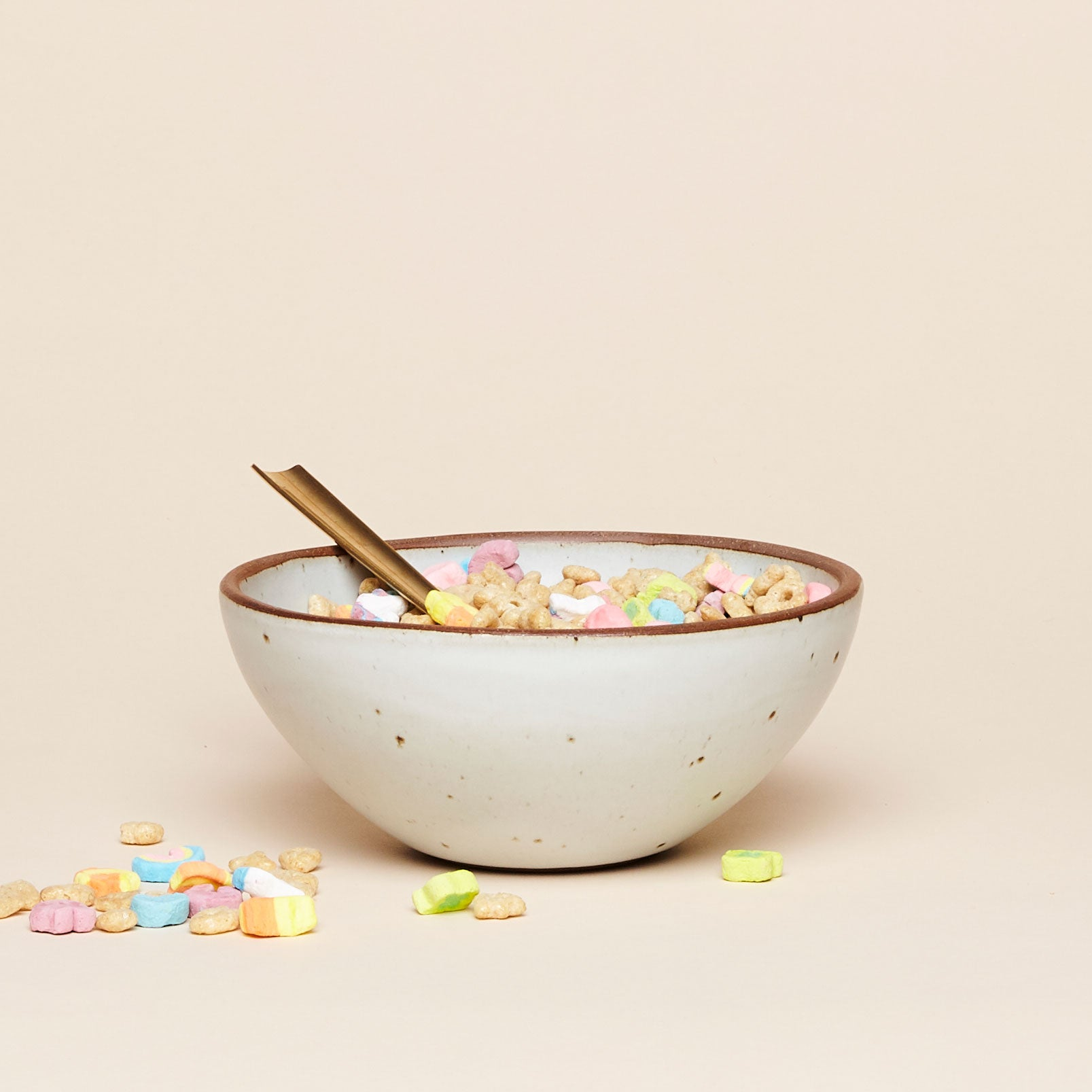 Ceramic bowl by East Fork Pottery in white eggshell glaze. Medium size great for soups and breakfast cereal.