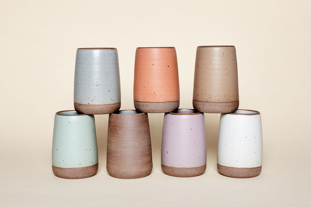 Large Slope Vases by East Fork Pottery