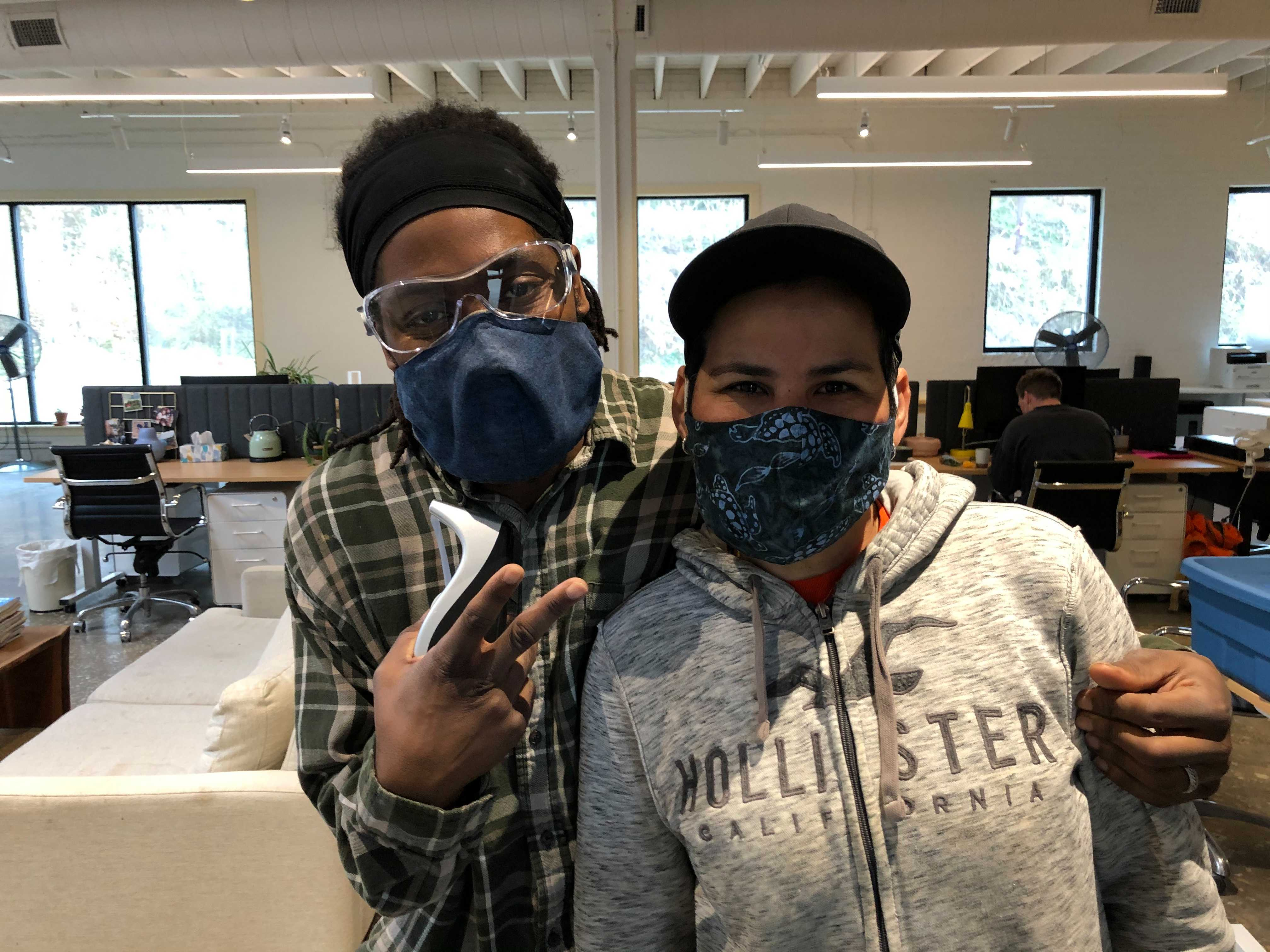 East Fork employee's wearing the masks