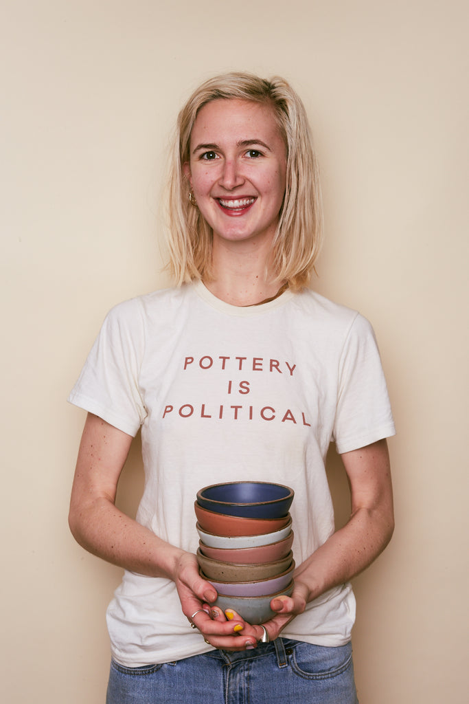 Pottery is Political T-Shirt from East Fork with all proceeds benefitting Everytown USA and Higher Heights.