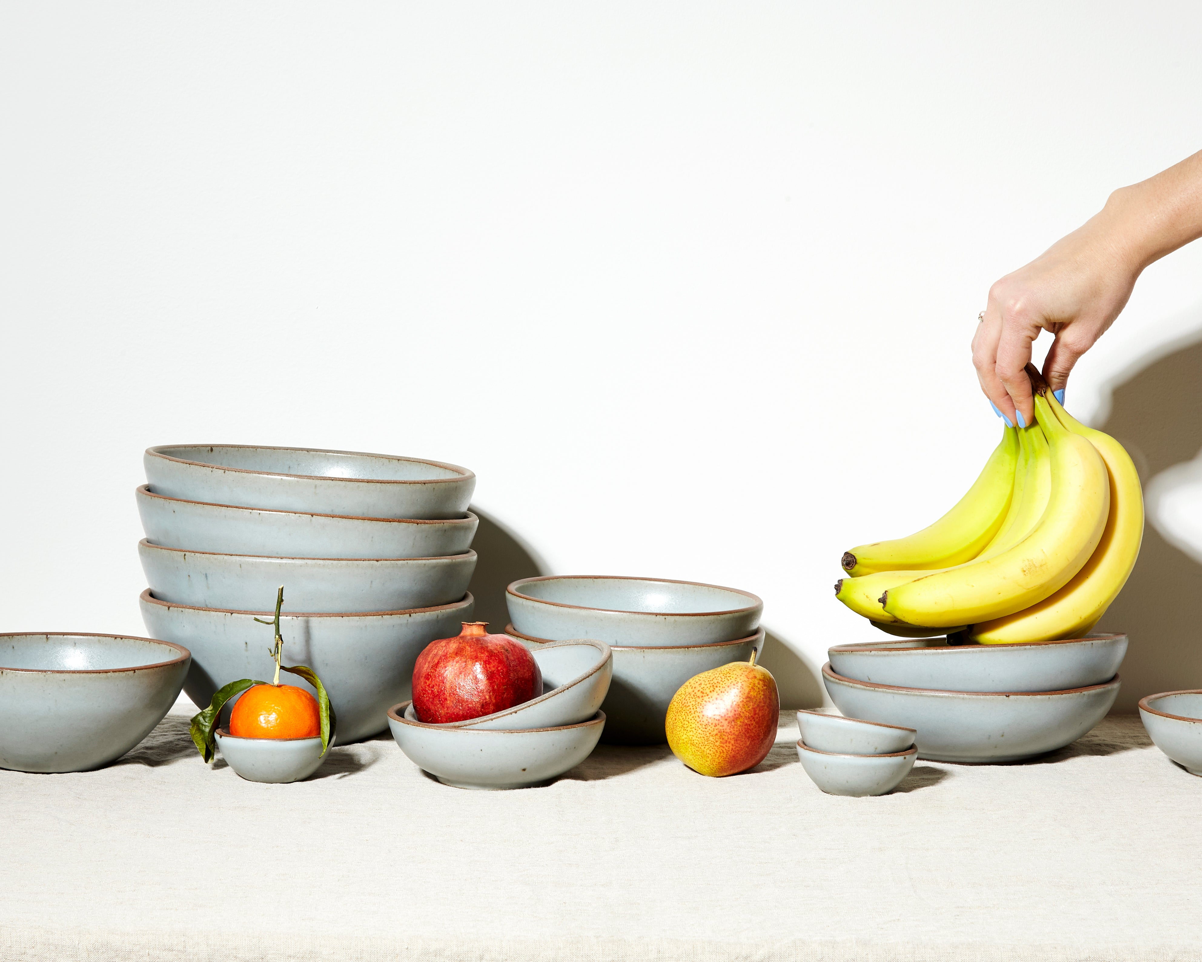 Soapstone pots with fruit