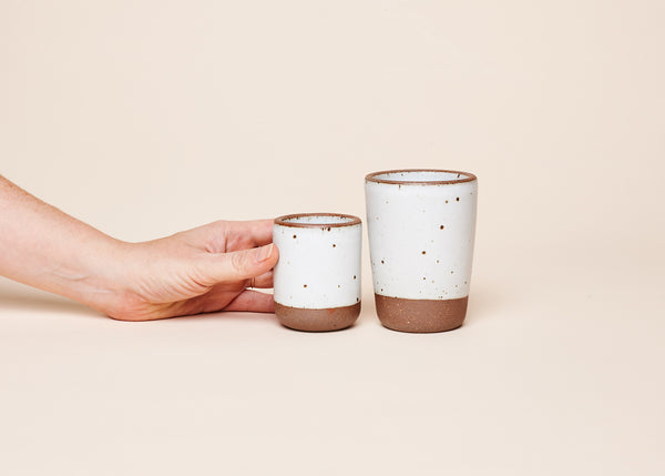 East Fork Pottery's Toddler Cup and Juice Cup in Eggshell