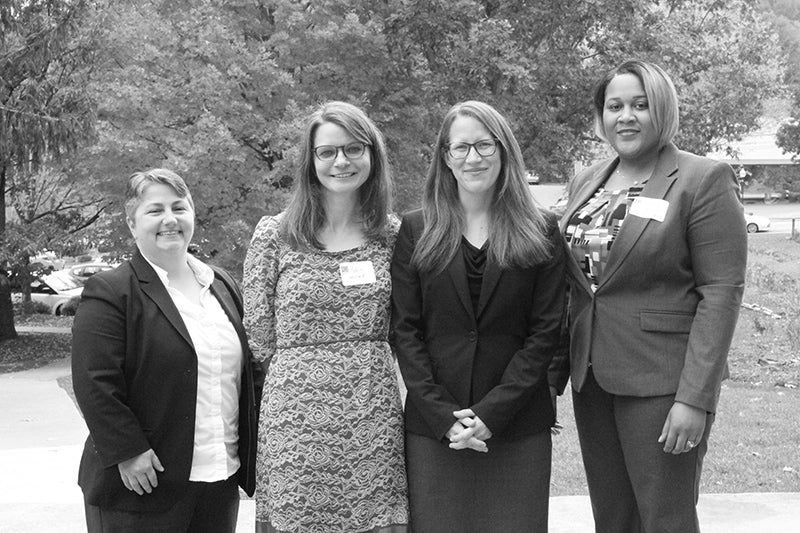 Attorney Julia Horrocks with group