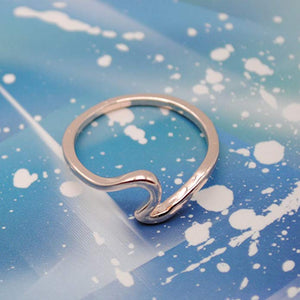 Wave Design Silver Ring