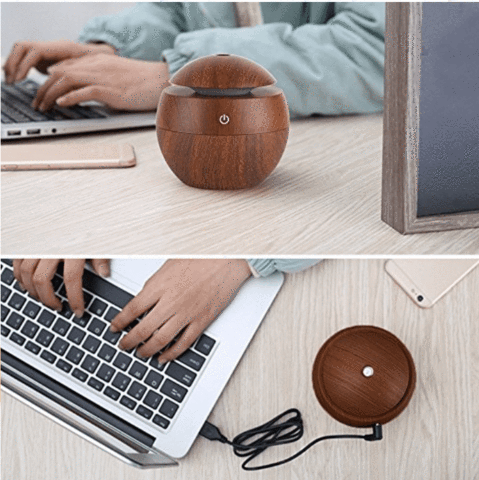 Wooden Aroma Essential Oil Diffuser Ultrasonic - Chakra Bracelet