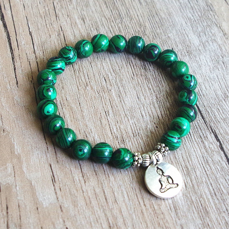 Malachite Beaded Bracelet FOR PREGNANCY, FERTILITY & BIRTH - Chakra Bracelet