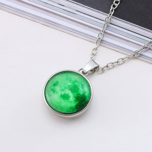 Glow In The Dark Moon Necklace - Chakra Bracelet