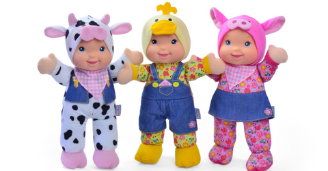 Baby's First Singing Farm Friends Doll ABC 123