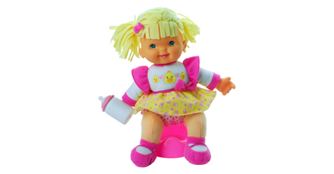 Baby's First Go Potty Girl Toilet Training Doll