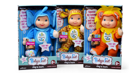Baby's First Sing & Learn Doll Teaches ABC 123
