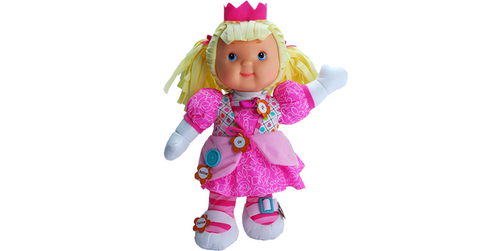 Baby's First Zipity Princess Doll Teaches Kids to Zip Snap Button