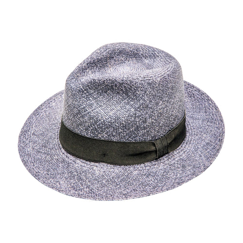 Denim Dyed: Straw Fedora