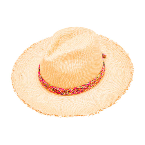 Flake Edged: Straw Fedora