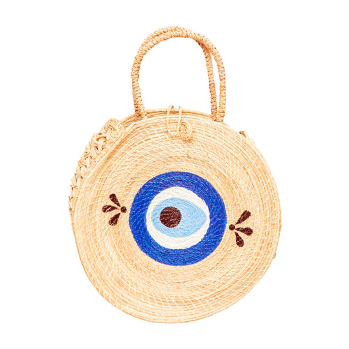 Round Evil Eye Beach Basket