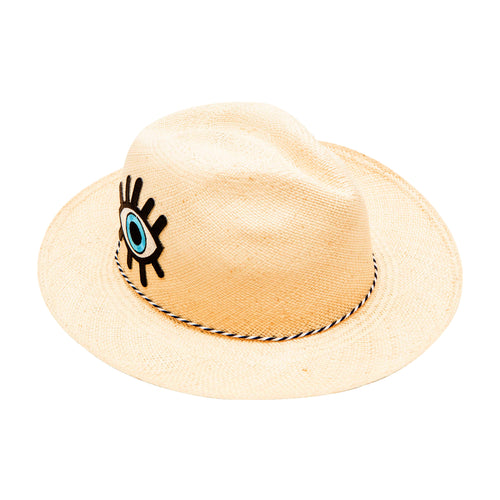 Evil Eye Patch: Straw Hat