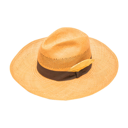 Gold Feathora: Straw Fedora