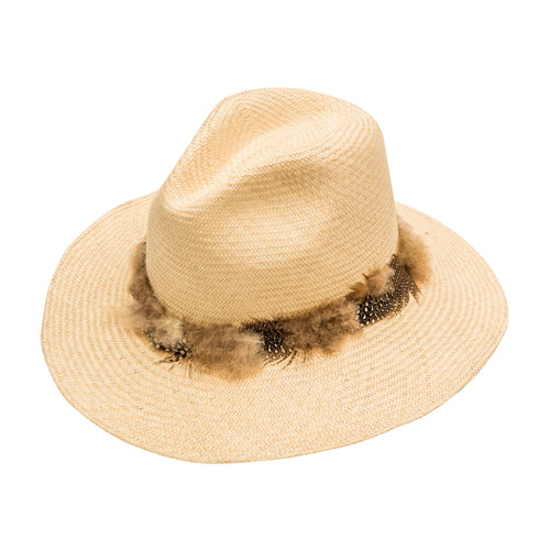 Feather Embellished : Straw Gavilan Fedora
